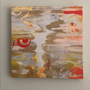 """New At Home  Artro Verse 14""""x 14"""" canvas"""